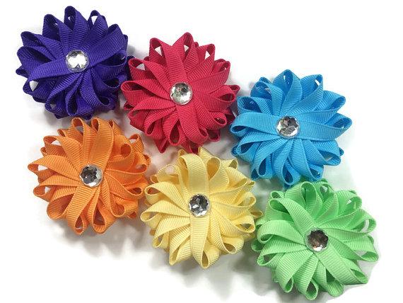 handmade Flower Hair Bows