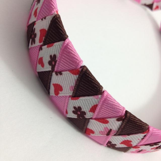 Butterfly Hearts Braided Headband