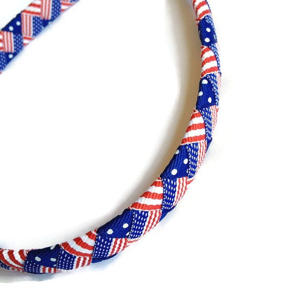 American Flag Woven Headband