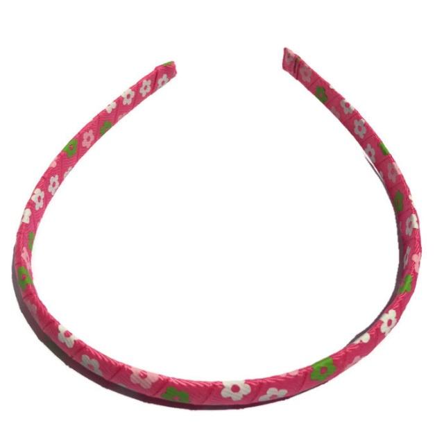 Pink Flower wrapped Headband