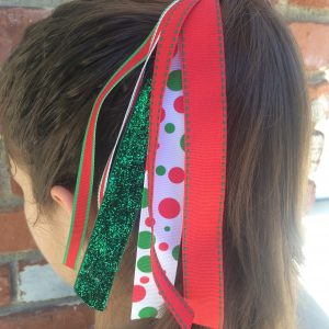 Christmas Dots Pony Streamer
