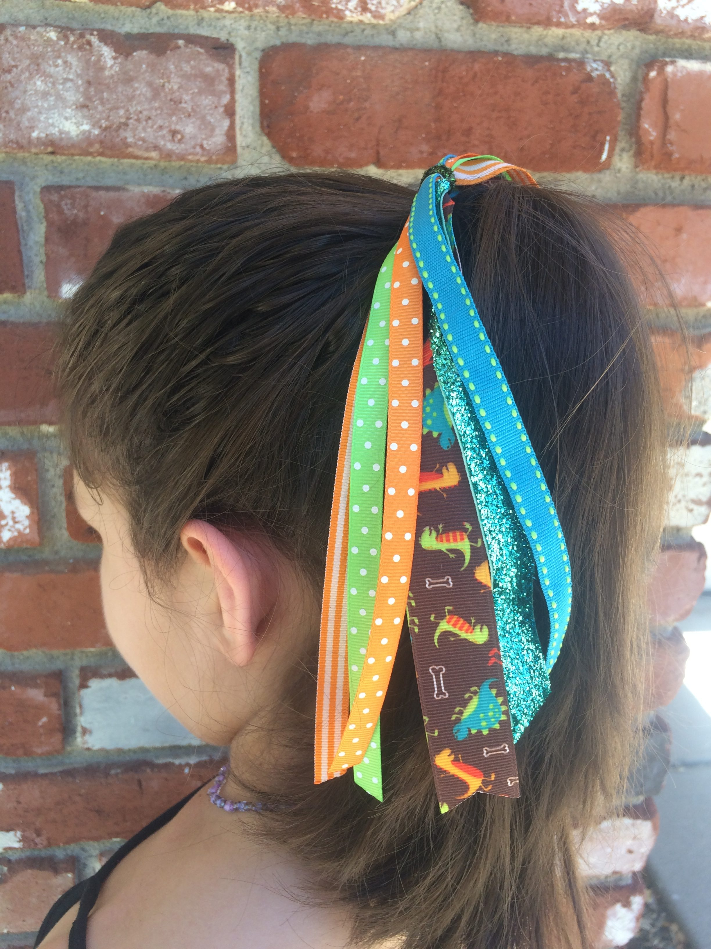 Dinosaur Ponytail Hair Streamer