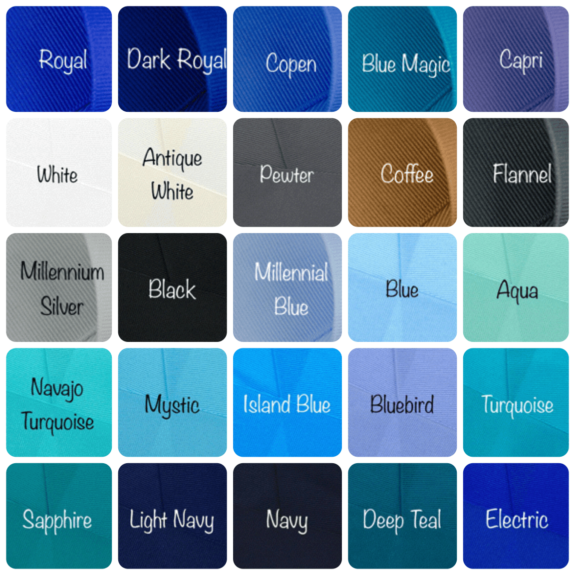 Solid Color Chart 3