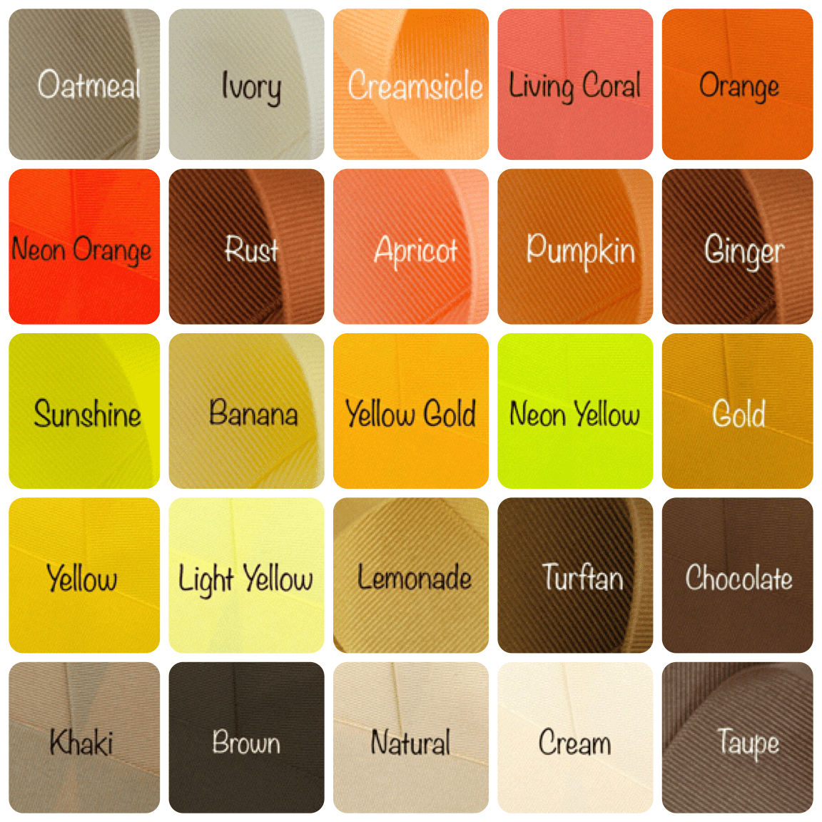 Solid Color Chart 2